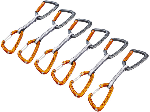 Skylotec Flint Express Dyneema Mix Quickdraw Set 11cm 6 Pieces light grey/orange
